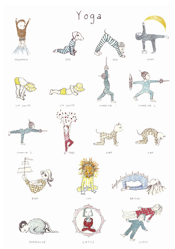 Yoga Poster Small Size